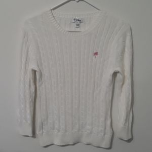 Lilly Pulitzer white knit sweater